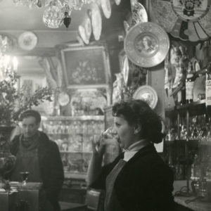 A cafe of Paris by Robert Doisneau 1960