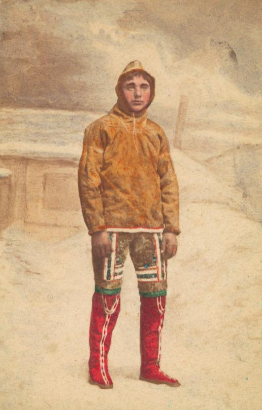 Un jeune groenlandais vers 1870 par Niels HANSEN