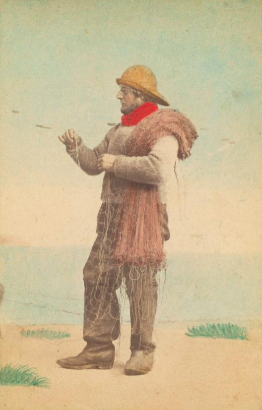 Danemark XIXème Skovshoved - Un pêcheur par HANSEN & Schou