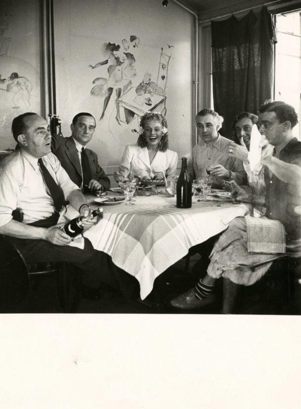Abel GANCE Julien DUVIVIER Assia NORIS Toutain -Tournage FRACASSE 1942 par Seeberger - Tirage Original 17x17cm