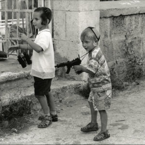 Children HEBRON Cisjordanie by David TURNLEY - Vintage Print 1990 - 7.5x11in