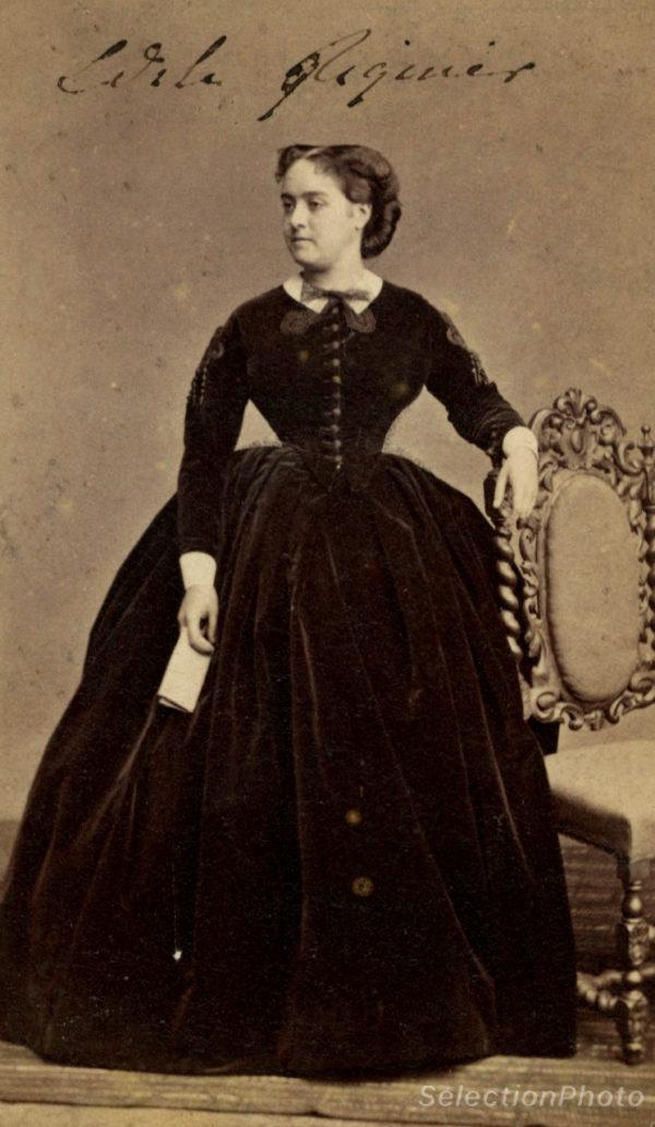 Marie Edile RIQUIER par Léon CREMIERE - Tirage albuminé original format CDV ca 1870