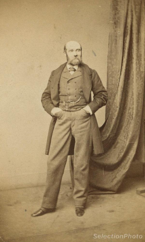 Paul FEVAL écrivain - Tirage albuminé original format CDV ca 1870