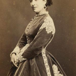 Marie FAVART actrice du Second Empire - Tirage albuminé original format CDV ca 1870