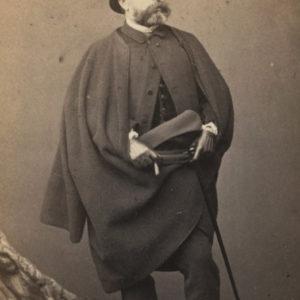 Portrait d'Ernest MEISSONIER by Bingham - Vintage albumen print format CDV ca 1870