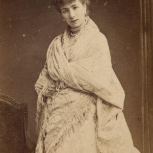 Portrait de Sarah BERNHARDT par Joseph TOURTIN - Tirage albuminé original format CDV ca 1870