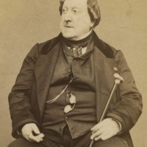Portrait photo ROSSINI par CARJAT