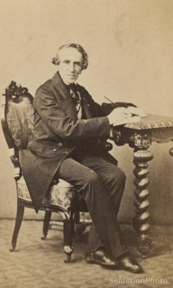 Portrait Giacomo Meyerbeer - Tirage albuminé original format CDV ca 1870