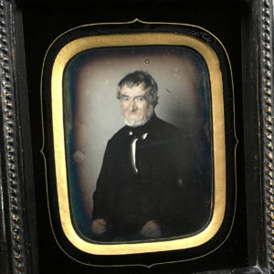 DAGUERREOTYPE Colorized 4th Plate - Bearded Old Man - 3.5 x 4.7 in
