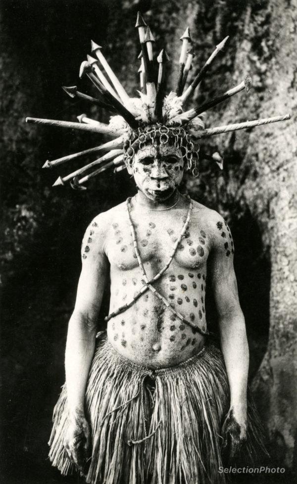 La GANZA cérémonie Mandjia à Dakpwa OUBANGUI - Tirage Original 1936 - M. VERGIAT