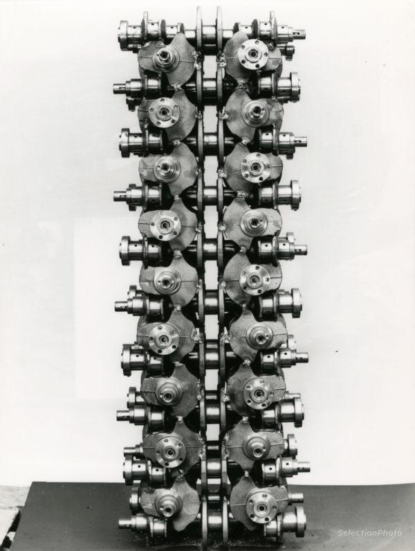 Sculpture Claude VISEUX - Tirage Argentique Original 1970 17x23cm