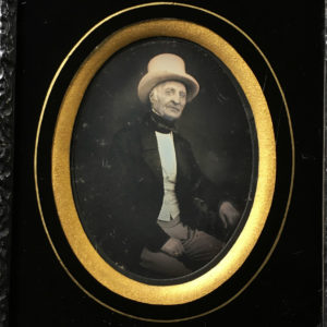 DAGUERREOTYPE 6th Plate - Man in White Top Hat - 3.5x2.7in