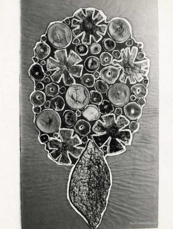 Philippe DEREUX Bouquet de fête - Tirage Argent. Original GIULIANI 1967 17x21cm