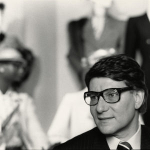 Yves SAINT LAURENT at the Fashion Museum 1986 -Vintage Silver Print 8.7x6in