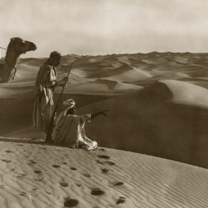 Lehnert and Landrock - BEDOUINS - GREAT Vintage Silver Print 1910 - 11x23in