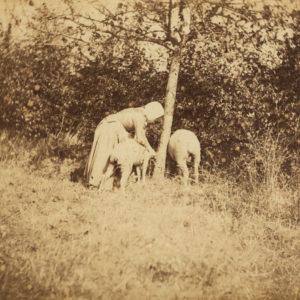 Jeune Bergère - Constant Alexandre FAMIN 1874 - Tirage Albuminé Original 11x17cm