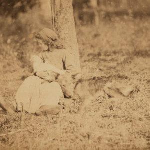 Constant Alexandre FAMIN - Jeune Bergère 1874 - Tirage Albuminé Original 11x17cm
