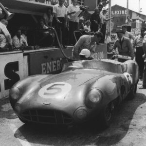 Aston Martin DBR 1 - 24 hours of Le Mans 1959 - Original Silver Print 12x16in