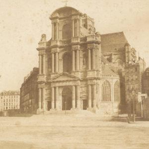 Edouard BALDUS Saint Gervais PARIS - Papier Salé d'après Calotype 1855 - 44x34cm