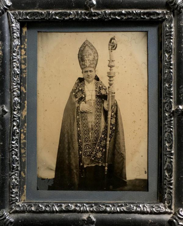 Cardinal Edouard PIE - Photographie d'après Nature sur AMBROTYPE circa 1860