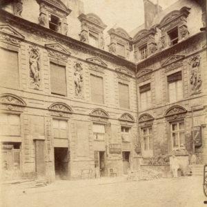 Eugène ATGET - Hôtel Sully PARIS - Tirage Albuminé Original d'époque 22x18cm