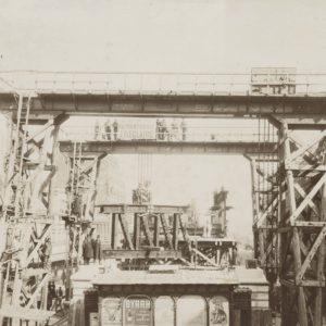 Construction MÉTRO Paris - Carrefour BARBÈS - Tirage Argentique 1900 - 38x28cm