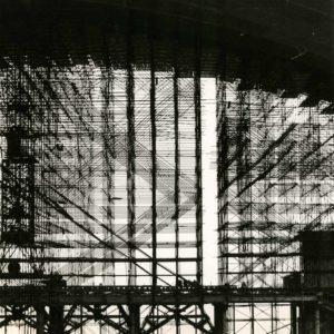 Construction du CNIT Paris P. LETELLIER (Match) Photographie 1958 - 27x40cm