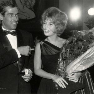 Annette STROYBERG et Roger VADIM 1960 Tirage Argentique Original - 22x16cm
