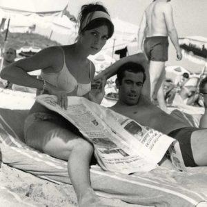 Catherine DENEUVE et Roger VADIM 1961 Tirage Argentique Original - 22x16cm