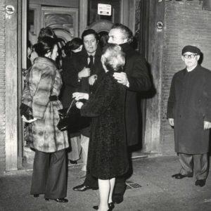 FELLINI Giulietta MASIMA et Mastroïanni 1970 -Tirage Argentique Original 25x20cm