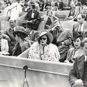 Marlène DIETRICH à Rolland Garros vers 1938 - Tirage Argentique Original 23x18cm