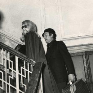 DENEUVE - MASTROIANNI par un Paparazzo - Rome 1970 - Tirage Original 30x19cm