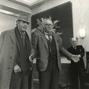 "FELLINI et MASTROIANNI Tournage ""Ginger et Fred"" Tirage Original 1985"