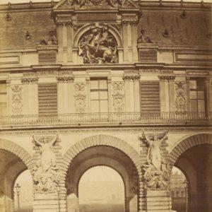 Photographie ancienne - LOUVRE Paris - Tirage Albuminé vers 1870 - 20 x 26 cm